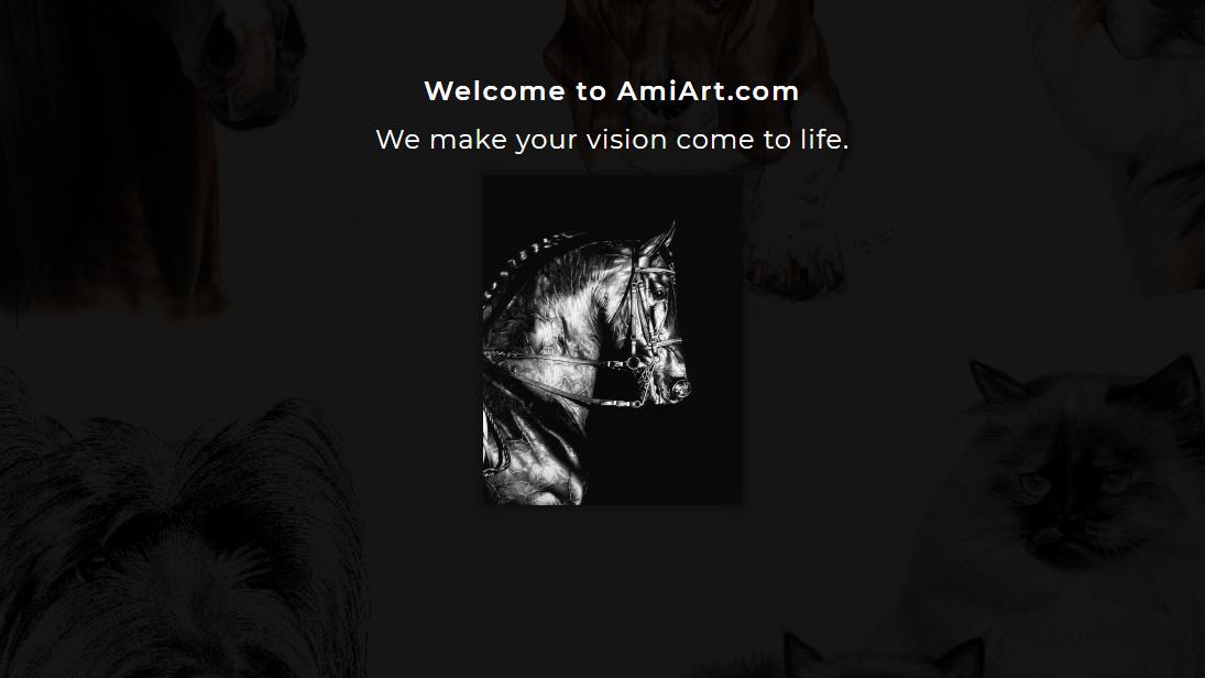 Art website landing page.