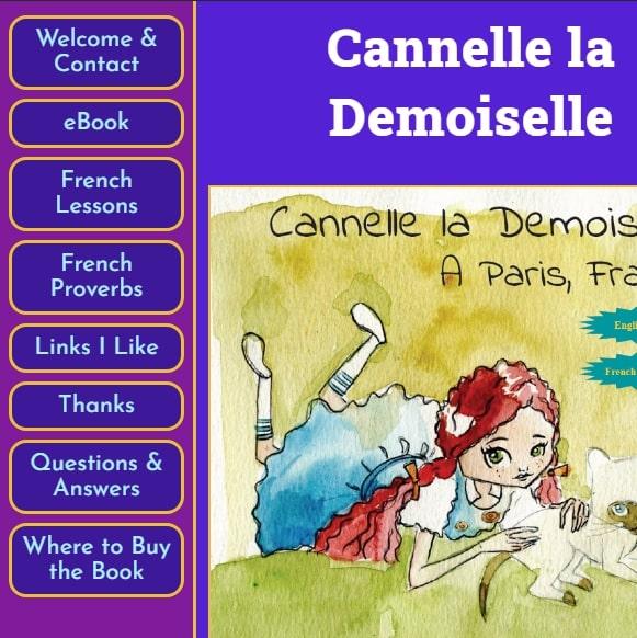 Children's book landing page.