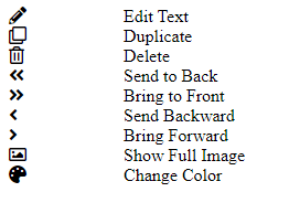 Right click menu without styling.