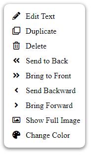 Right click menu.