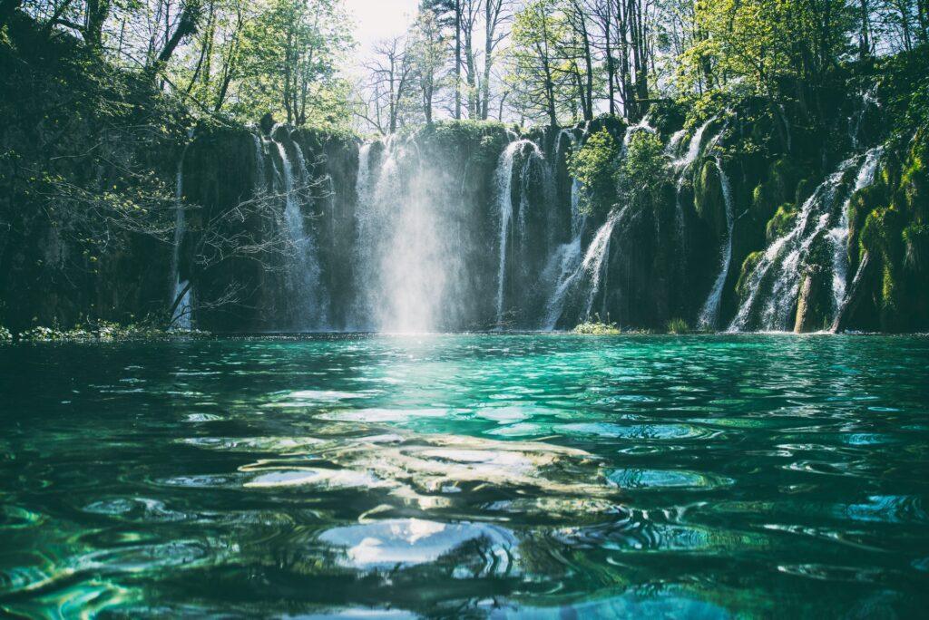 Waterfall pond.