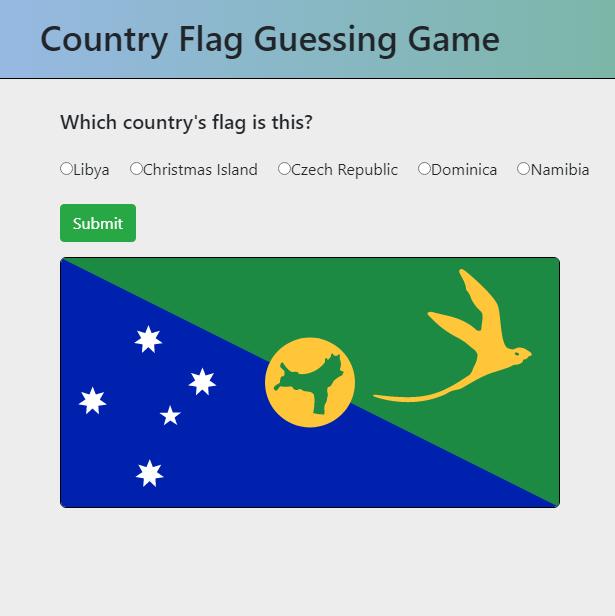 Flag game.